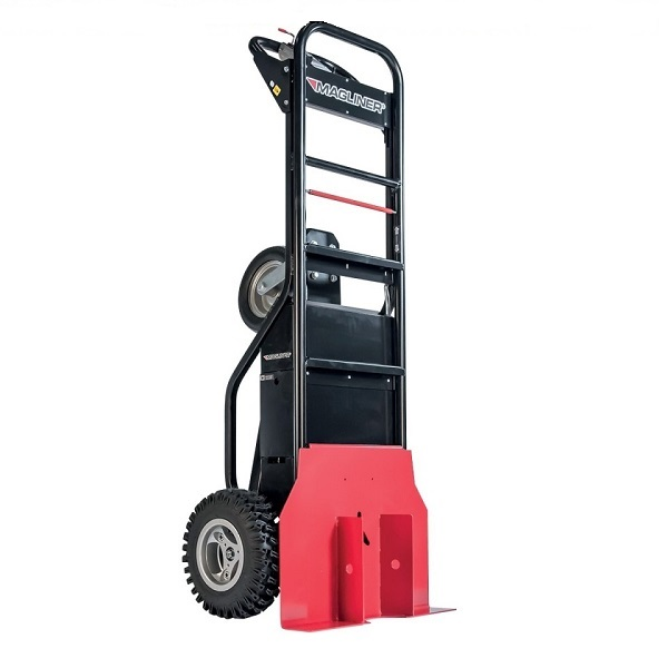 Electric Hand Truck with Single Tires and Tent Pole Pusher