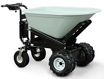 Power Drive and Power Dump Wheel Barrow with 8 Cubic Foot Hopper