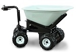 4 Wheel Power Drive Wheel Barrow with 8 Cubic Foot Dump Hopper