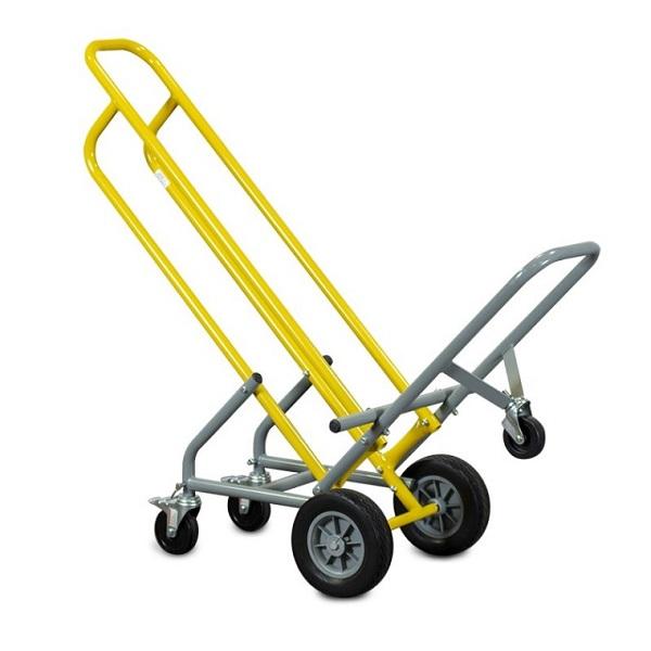 Stackable 5-Wheeler Steel Chair Cart