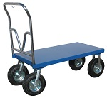 Steel Platform Cart with Large Wheels 1,500 lbs capacity