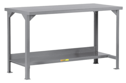 Welded Steel Workbench With Bottom Shelf