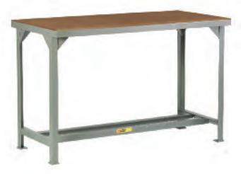 Welded Steel Workbench With Wooden Top