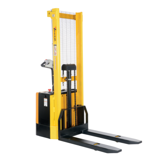 "62"" Lift Motorized Stacker, Powered Lift and Drive With Fixed Forks"