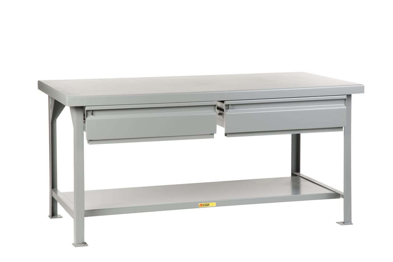 Heavy-Duty Workbench With 2 Drawers