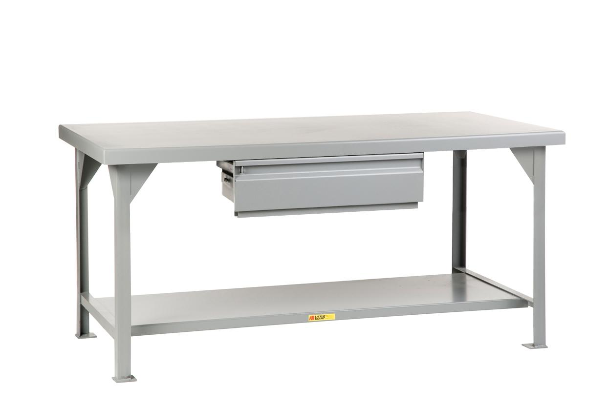 Heavy-Duty Workbench With Drawer