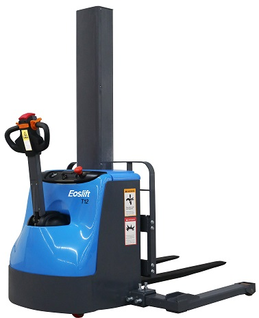 "63"" Lift Fully Powered Electric Stacker With Adjustable Legs - 2600 lb Capacity"