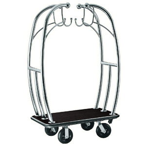 "Angel Style 2"" Tubing Stainless Steel Hotel Cart"