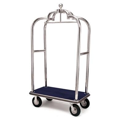 Forbes Elegant Stainless Steel Bellman Cart