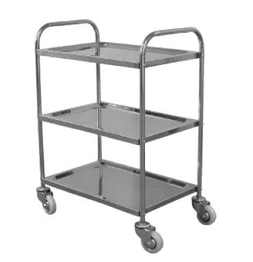 Stainless Steel 3 Shelf Sevice Cart