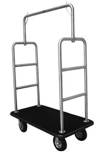 Monarch Economy Hotel Luggage Cart (Stainless Steel)