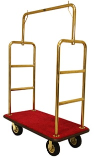 Monarch Economy Hotel Luggage Cart (Gold)