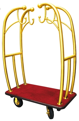 Monarch Angel Style Bell Cart Brass Tubes with Red Carpet