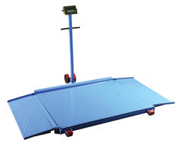 Portable Digital Floor Scale With Built In Ramp Up To 3000 Lbs
