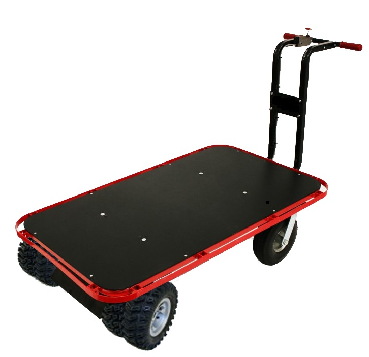 Motorized Flatbed Cart For The Beach Sand