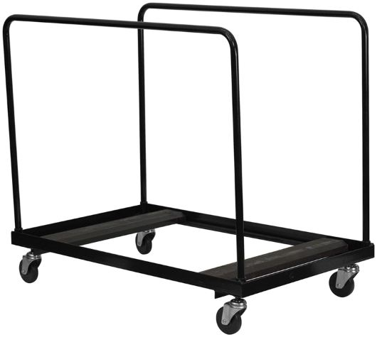Round Folding Table Cart for Tables Up To 60""