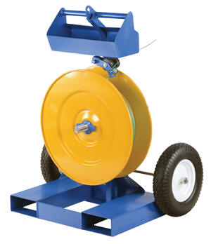Heavy Duty Strapping Cart with Fork Pockets