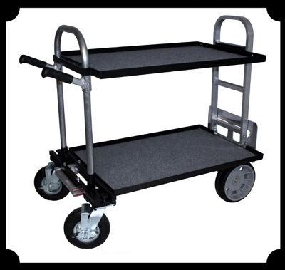 Studio Cart Convertible Hand Truck with Shelves - Junior Model
