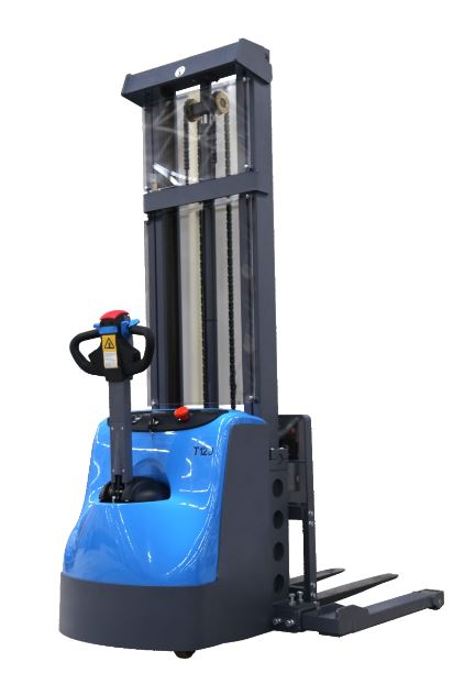 """118"""" Lift Fully Powered Electric Stacker With Adjustable Legs - 2600 lb Capacity"""