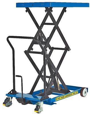 Foot Operated Double Scissor Lift Cart 1000lb Capacity 61