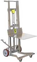 Four Wheel Stainless Steel Foot Pump Platform Lift Truck