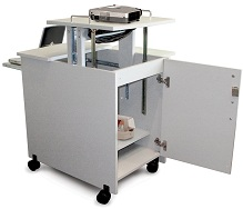 Audio Visual Mobile Presentation Cart with Storage
