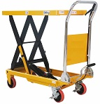 "1100 lbs Capacity Manual Single Scissor Lift Table - 35.4"" Lift thumb"