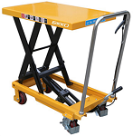 1100 lbs Capacity Manual Steel Single Scissor Lift Table thumb