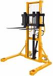 """1100 lbs Capacity Manual Straddle Stacker - 63"""" Lift thumb"""