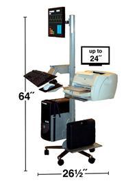 Mobile LCD Monitor Workstation W/ Keyboard Shelf