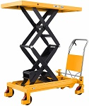 "1760 lbs Capacity Manual Double Scissor Lift Table - 59"" Lift thumb"
