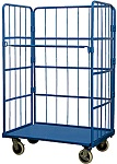 1 Shelf Enclosed Wire Cage Stock Cart thumb