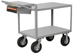 2 Steel Flush Shelf Cart thumb