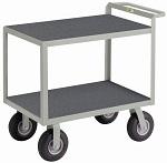 2 Steel Flush Shelf Instrument Cart with Non-Slip Vinyl Surface thumb