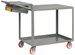 2 Steel Flush Top Shelf Order-Picking Cart with Storage Pocket thumb