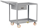 2 Steel Lip Edge Shelf Order-Picking Cart with Storage Drawer thumb