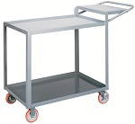 2 Steel Lip Edge Shelf Order-Picking Cart thumb