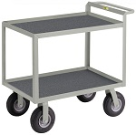 2 Steel Lip-up Shelf Instrument Cart with Non-Slip Vinyl Surface thumb