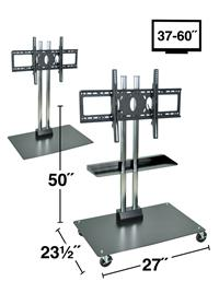 "Stationary or Mobile Flat Panel TV Stand 50"" Tall"