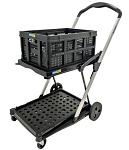 2-Shelf Folding & Compact Platform Cart thumb