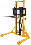 "2200 lbs Capacity Manual Straddle Stacker - 63"" Lift thumb"