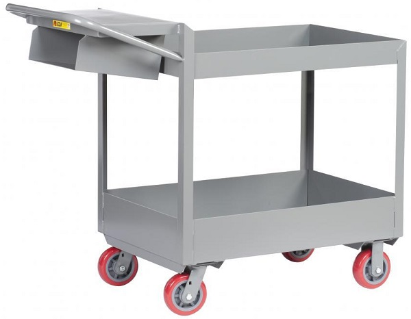 "3"" Deep 2 Shelf Order Picking Cart thumb"