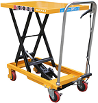 330 lbs Capacity Manual Steel Single Scissor Lift Table thumb