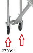 Replacement Casters for Wesco Spartan III Convertible Hand Truck thumb