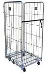 3 Sided Folding Steel Wire Cage Cart thumb