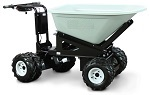 4 Wheel Power Drive and Dump Wheel Barrow - 8 Cubic Foot