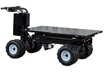 4-Wheel Power Drive and Dump Platform Cart with Dual Ag Tires thumb