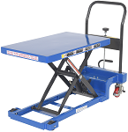 "400lb Capacity Low Profile Manual Scissor Lift Table w/ Auto-Shift - 19.63""W x 32.25""L thumb"