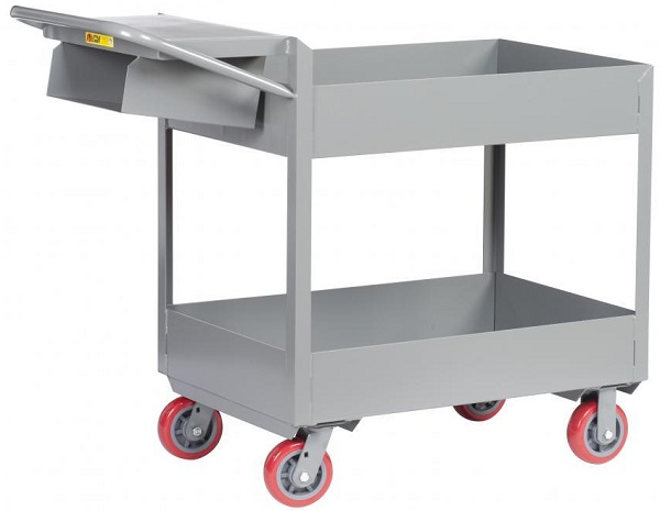 "6"" Deep 2 Shelf Order Picking Cart thumb"