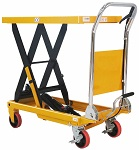 "660 lbs Capacity Manual Single Scissor Lift Table - 35.4"" Lift thumb"